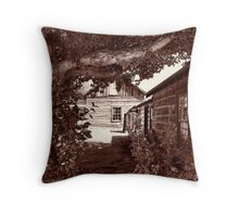 Nevada City Sepia 2 (Montana, USA) Throw Pillow