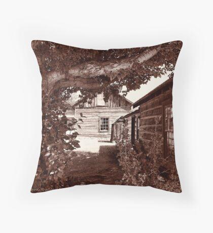 Nevada City Sepia 2 (Montana, USA) Throw Pillow