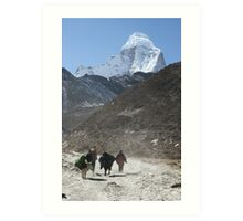 Porters in the Imja Valley Art Print