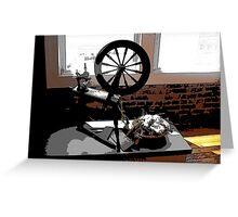 Old Spinning Wheel Greeting Card