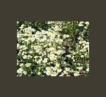 Dense thickets of small white daisies in a meadow Unisex T-Shirt