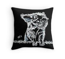 Snow Pig Throw Pillow