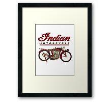 Indian Motorcycle - Vintage Framed Print