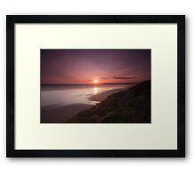 Newgale Sunset Framed Print