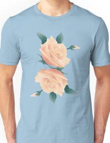 Blush Pink Roses Unisex T-Shirt