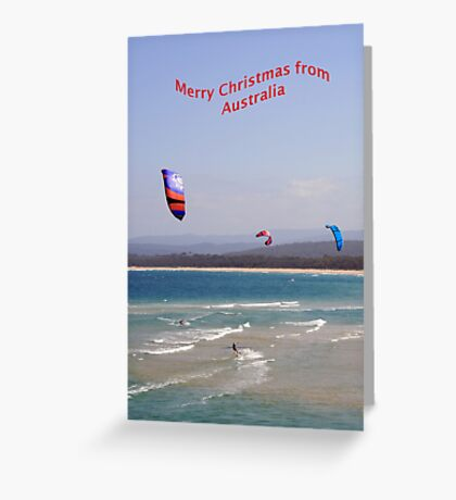 Surfing at Merimbula NSW Greeting Card