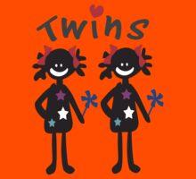 Twin girls vector art Kids Tee
