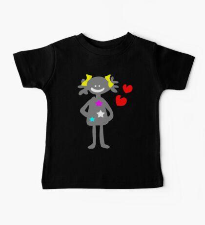 cute smiley girl vector art Baby Tee