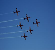 Red Roulettes in the blue sky by DashTravels