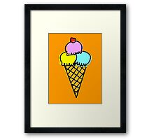 Icecream Framed Print
