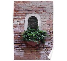 Balcony Garden in Venice Poster