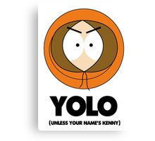 Kenny South Park Yolo Canvas Print