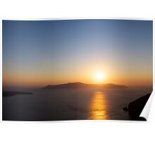 Sunset over the Caldera Poster