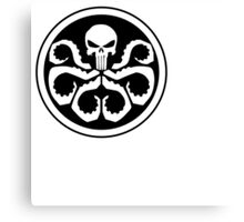 Punisher with hydra  Canvas Print