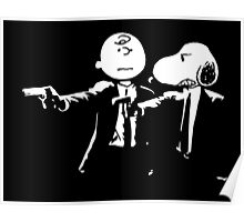 Snoopy & Charlie Pulp Fiction Poster