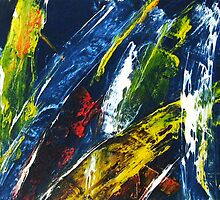 Subacvatica - An Abstract Oil Painting 2008 by Andrei Mundrea