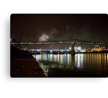 Thames Fireworks Canvas Print