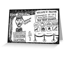 Dark Dream - Welcome to Palestine Greeting Card