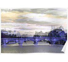 Parisian Mosaic - Piece 26 - La Seine Poster