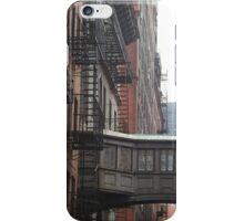 Classic Bridge Between Buildings, Tribeca, New York City iPhone Case/Skin