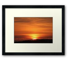 Sunset Over The Dune Framed Print