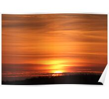 Sunset Over The Dune Poster
