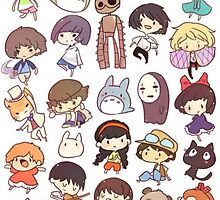 Studio Ghibli Chibi by Optimistic  Sammich