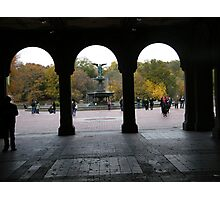 Central Park, Bethesda Fountain, Fall Colors Photographic Print