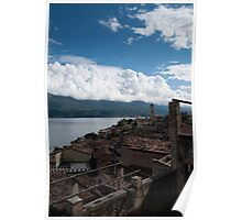 Limone sul Garda - view from Lemon Nursery Poster