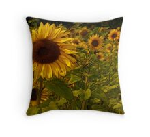 Fractual Sunflowers Throw Pillow
