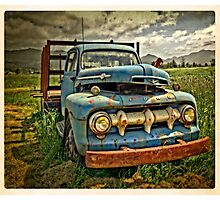 Old Blue Ford Truck Photographic Print