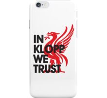 In Klopp We Trust (White) iPhone Case/Skin