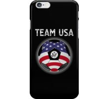 Team USA - American Flag - Football or Soccer Ball & Text iPhone Case/Skin