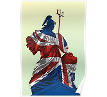 Statue of Lady Britannica - United Kingdom Flag Poster