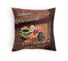BioShock – Dr. Steinman's Cosmetic Enhancement Defaced Poster Throw Pillow