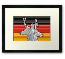 Statue of Lady Victoria - German flag - Goldelse Framed Print