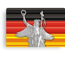 Statue of Lady Victoria - German flag - Goldelse Canvas Print