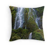 Moon Falls in the Oregon Cascades Throw Pillow