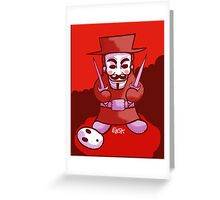 Shyguy Fawkes Greeting Card