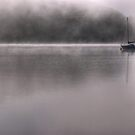 Coniston Water...Boat In The Mist by VoluntaryRanger