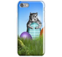 Easter Egg Hunting Squirrel iPhone Case/Skin