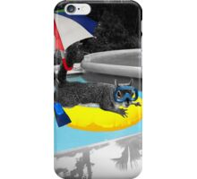Sink or Swim - Squirrel Lover's Humor iPhone Case/Skin