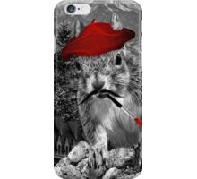 A Squirrelly French Painter iPhone Case/Skin
