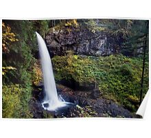 Autumn time North Falls at Silver Falls State Park Poster