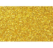 Gold glitter and sparkles Photographic Print