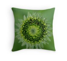 Green Sunflower Throw Pillow