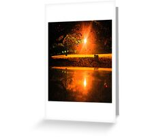 Reflections in Northbridge WA Greeting Card