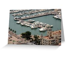 Alicante Yacht Habor Greeting Card