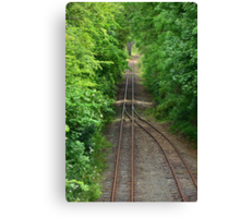 Coming to the end of the line Canvas Print