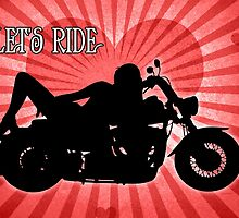 Let's Ride - Hot Lady Motorcycle by Doreen Erhardt